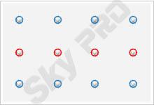 23 - Схема расположения точечных светильников на натяжном потолке